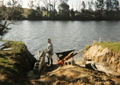 Boat Ramp under construction, Peter Moroney Building Certifier